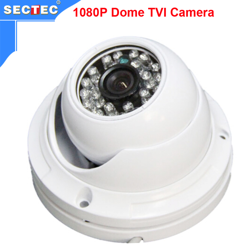 ФОТО SECTEC 2016 Hot-sale Metal HD 2.0 Megapixel 1080P Dome TVI Camera 20M Night Vision Range Perfect Image Quality for Indoor Use