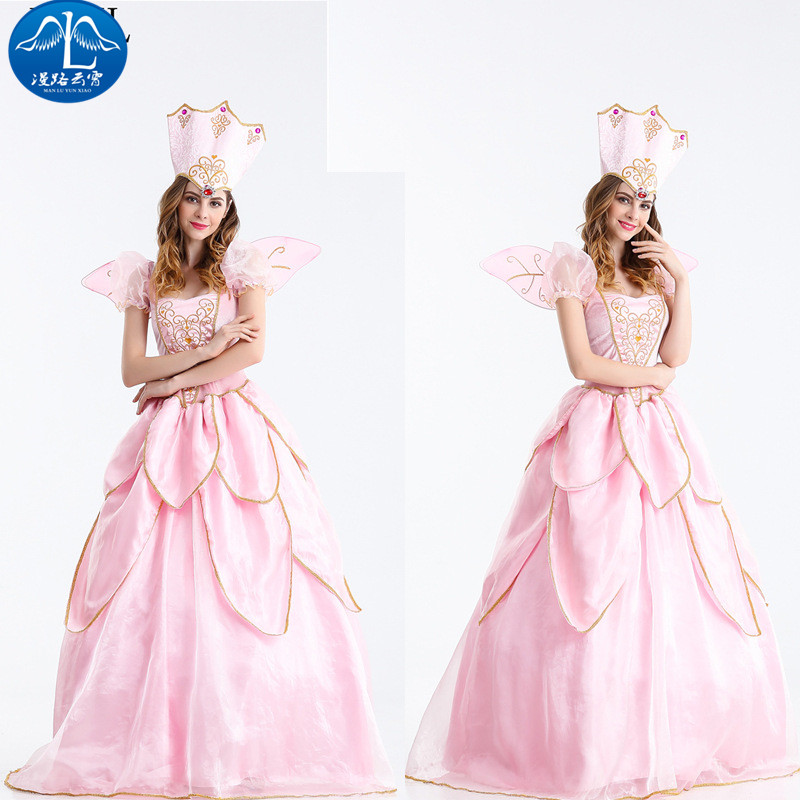 ManLuYunXiao2017 Cosplay Costume Princess Dress Cosplay Elegant Peach Halloween Party Uniforms Dress Cosplay Women Free Shipping