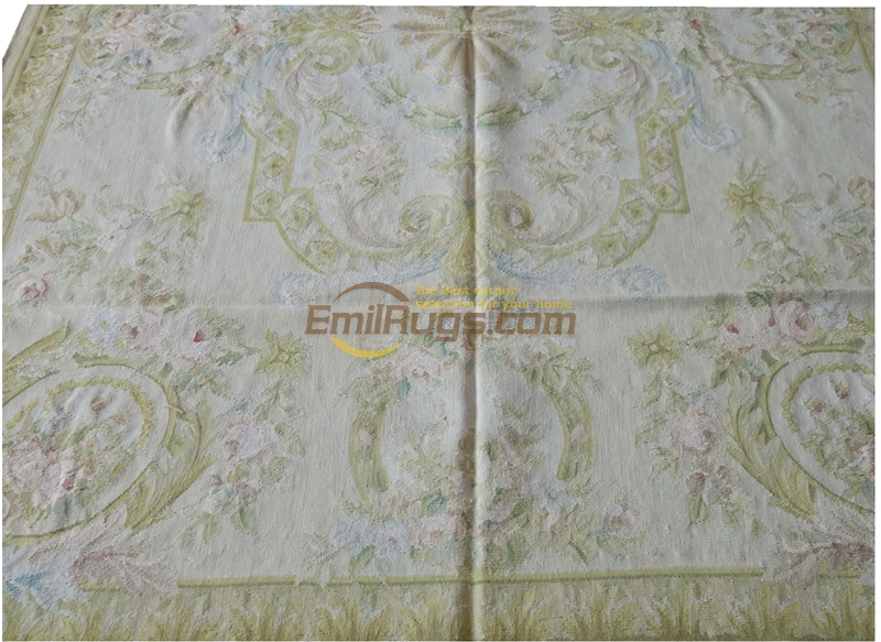w_212 5.5x8 Light Pastel Tone French Accent Decor Gorgeous Aubusson Area Rug gc8aubyg13