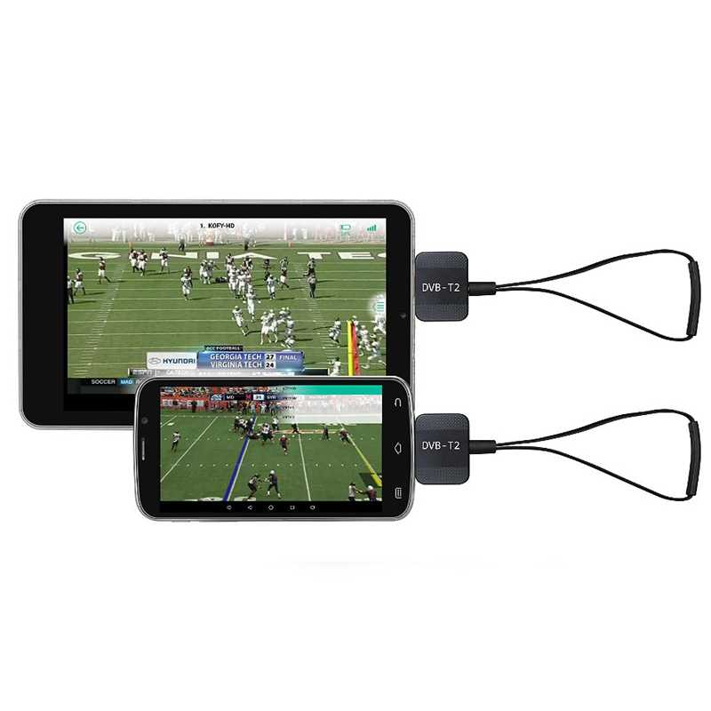 Mini portátil Micro-Usb Dvb-T2 y DVB-T Android sintonizador de Tv Stick Dongle receptor para Samsung Htc teléfono Android