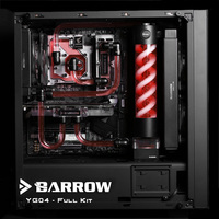 Barrow YG04 Black Style Full Set Hardtubes Water Cooling Kit CPU GPU Block T Virus Reservoir