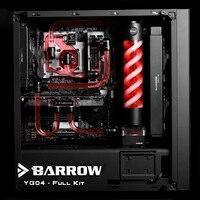 Barrow YG04 Czarny Styl Komplet Zestaw Hardtubes chłodzenia Wody, CPU + GPU blok, T Zbiornik Wirusa, oświetlenie RGB, 240/120mm Radiator