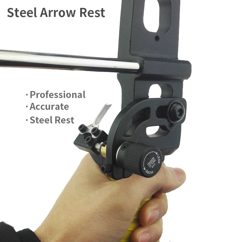 Recurve Bow Arrow Steel Rest Archery Hunting Shooting Arrow Rest Compound Bow Competition Bow and Arrow Accessories Metal