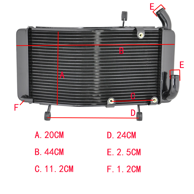 LOPOR Motorcycle Aluminium Radiator For DUCATI 748 748S 916 996 996S 1994 2002 Replacement Engine Water
