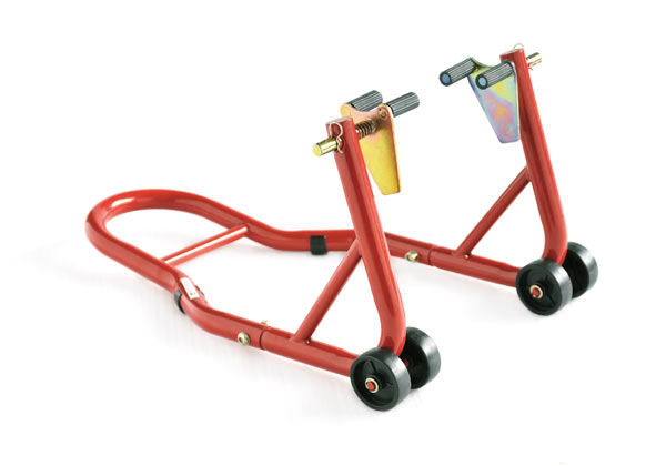 Стальные Передние Колеса Стоят Паддок Стенд Лифт Лифт Маятник Для Универсальный Мотоцикл Красный Велосипед