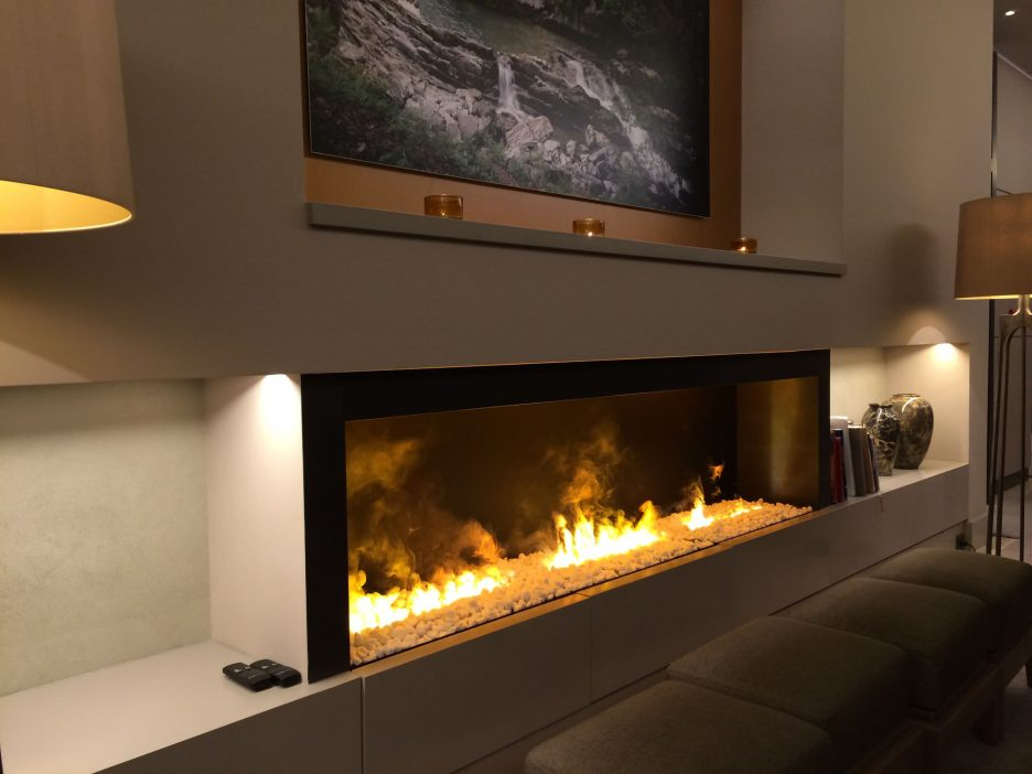 On Sale 24 Inch Smart Control Black/silver Indoor Metal Fireplace