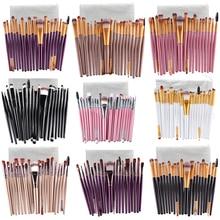 Makeup Brushes With Pocket 20 Pcs 18 Color Professional Soft Eye Cosmetics Beauty Make up Brushes Set Kabuki Kit Tools Maquiagem
