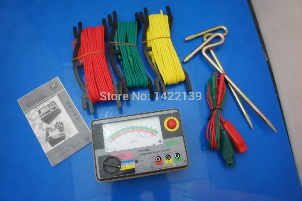 DUOYI DY4102 Multimeter Tester Electrical Instrument Analog Ground Resistance Tester Earth TesterDUOYI DY4102 Multimeter Tester Electrical Instrument Analog Ground Resistance Tester Earth Tester