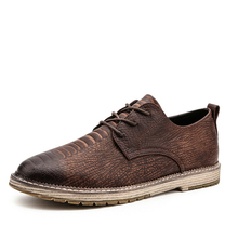 LAISUMK 2019 Luxury Men Shoes Genuine Leather Oxford Mens British Style Pointed Toe Retro Lace Up Casual