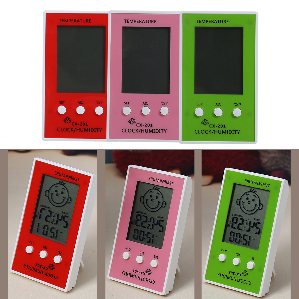 Multi Color Home Temperature Instruments Smile High-precision LCD Screen Indoor Outdoor Electronic Hygrometer