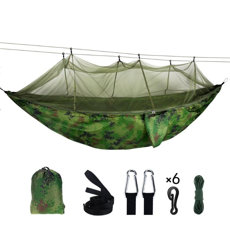 300 kg Bearing Outdoor Mosquito Net Hammock Parachute Camping Hanging Sleeping Swing Bed Hanging Hammock300 kg Bearing Outdoor Mosquito Net Hammock Parachute Camping Hanging Sleeping Swing Bed Hanging Hammock