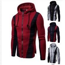B012019 спортивные и фитнес куртки тонкие мужские толстовки Стеганые лоскутные толстовки