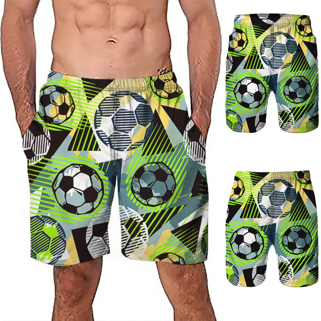 Earnest Swimwear Brief Casual Shorts Swimming Trunks Surf 3d Graffiti Printed Beach Work Casual Short Trouser Shorts Pants L0328 Good Taste