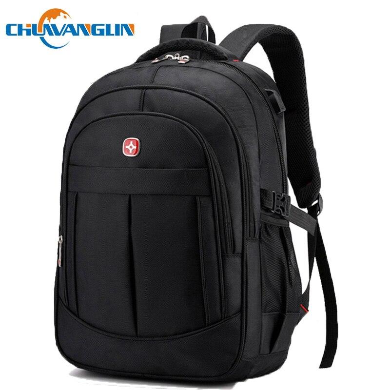 Chuwanglin 16 Inch Laptop Backpack Men Fashion Charging Male Backpacks New School Backpack Waterproof Travel Bag Mochilas P61207
