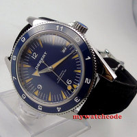 41mm debert blue dial deployment clasp 21 jewels miyota Automatic mens Watch 11