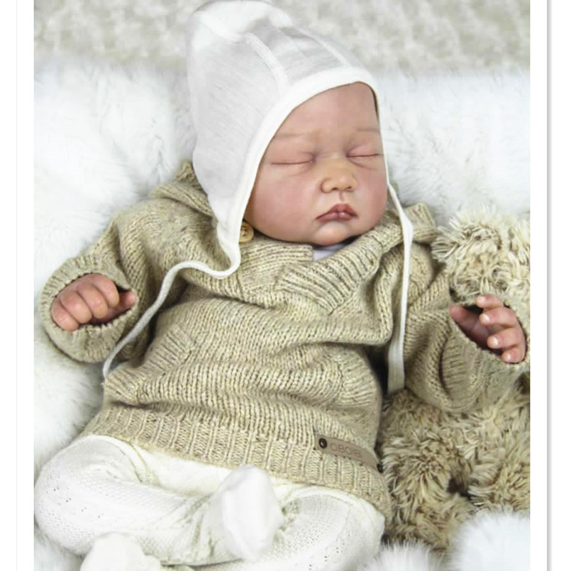 Lifelike Doll Kit Unpainted Blank Reborn Baby Doll Kit Toys for Children,DIY Handmade Silicone Reborn Doll Kits High-End Mold