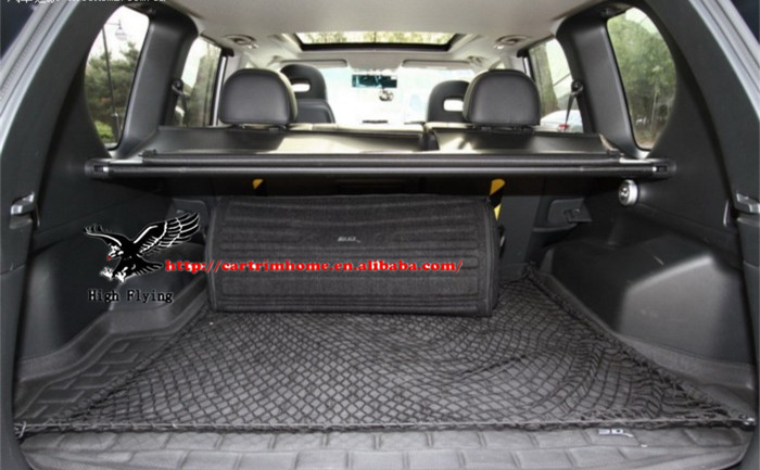 Rear Trunk Black Elastic Mesh Cargo Net 4 Hook Fit For Nissan X-Trail 2008 2009 2010 2011 201 Universal Style car rear trunk security shield shade cargo cover for nissan qashqai 2008 2009 2010 2011 2012 2013 black beige