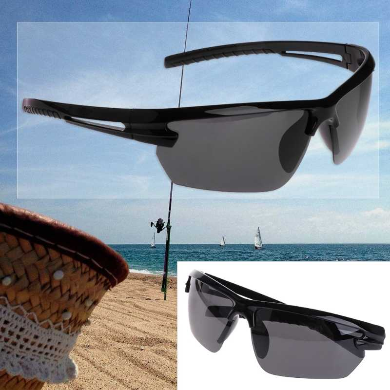 2018 fashion Glasses Fishing Cycleing Polarized Outdoor Sunglasses Half Frame Sun Sport UV400