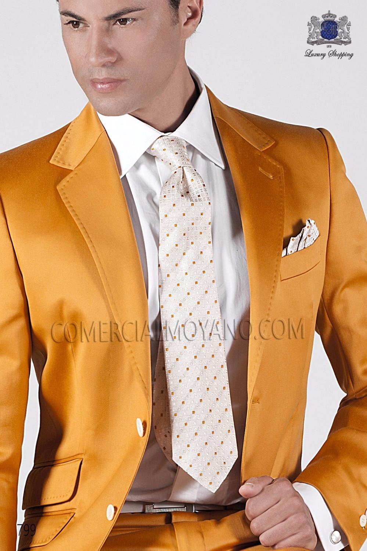 2017 Latest Coat Pant Designs Italian Gold Satin Men Suit Prom Jacket Slim Fit 2 Piece Groom Style Tuxedo Custom Blazer Ternos F