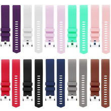 Pure Color Soft Silicone Replacement Watch Band Watch Bracelet for Fitbit Charge 2 Women Men Black Wrist Strap Belt For FitBit 2(China)