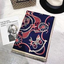 Cachemire D hiver Écharpe Femmes Vintage Marque De Luxe Arbre Grande  Couverture Chaud Pashmina De adf30991c76