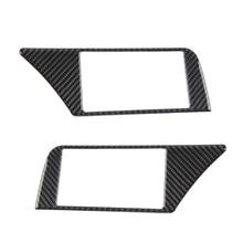Audi için A4 B8 2009 2010 2011 2012 2013 2014 2015 2016 karbon Fiber navigasyon paneli ekran çerçevesi dekor kapak sticker Trim