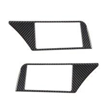 Cho Xe Audi A4 B8 2009 2010 2011 2012 2013 2014 2015 2016 Sợi Carbon Điều Hướng Bảng Điều Khiển Màn Hình Khung Trang Trí Bao miếng Dán Kính Cường Lực Viền