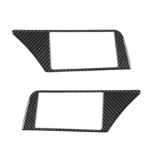 Dla Audi A4 B8 2009 2010 2011 2012 2013 2014 2015 2016 z włókna węglowego Panel nawigacji ramka ekranu pokrowiec dokoracyjny naklejka zgrabna