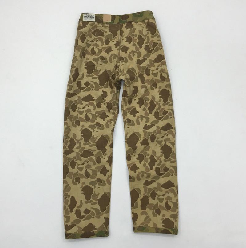 Bob dong replica p44 남성용 바지 13.7oz 데님 원단 미 육군 군사화물 바지 duck hunter camouflage army bottoms-에서카고팬츠부터 남성 의류 의  그룹 2