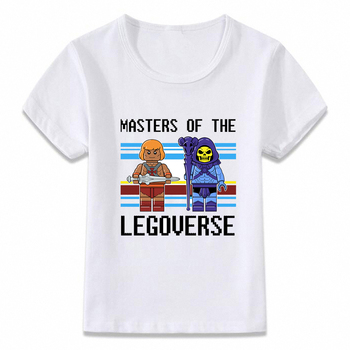 Kids Clothes T Shirt He-Man Heman and The Master of The Universe Skeletor T-shirt for Boys and Girls Toddler Shirts Tee oal291 image