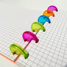 500 шт прозрачное цветное пластиковое связывающее кольцо диск