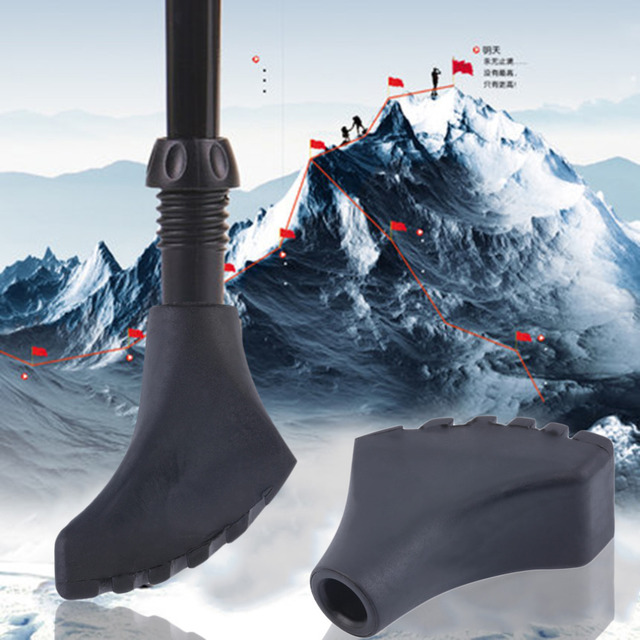 Alpenstock Rubber Head Cover Case Protector for Hiking Walking Stick New High Quality Durable Black Free shipping free shipping
