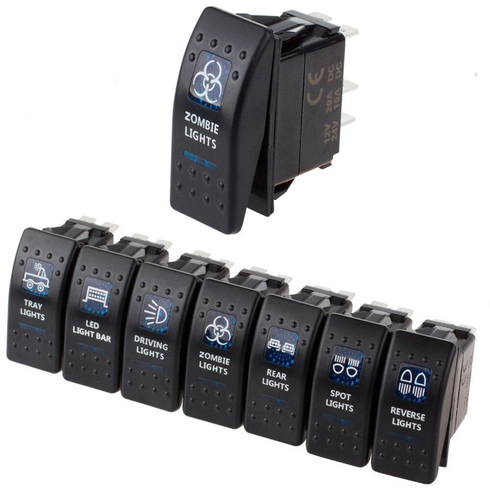 Weatherproof Led Rocker Switch Dual Led Light Bars Switch