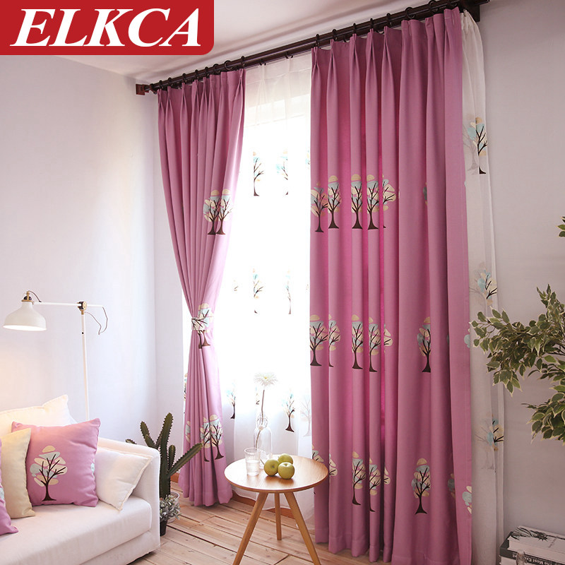 Blue Flower Living Room Curtains For Bedroom Kitchen Curtains Draps ...