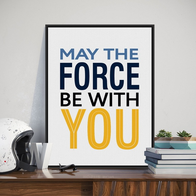Modern Minimalist Motivational Typography Star Wars Quotes A4 Art Print  Poster Wall Picture Canvas Painting Kids