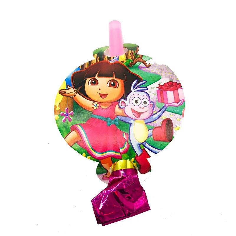 12pcs Dora Theme Party Noise Makers Dora The Explorer Theme Blowouts Dora The Explorer Theme Party Blowouts