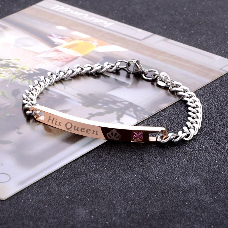 2020 Hot Pop jewelry Couple bracelet bracelet tide men and women simple bracelet Crystal from Austrian Fit DW for Women Party