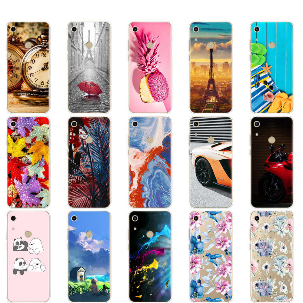 For Huawei Honor 8A Case Silicone Cute Cover For Huawei Honor 8A JAT-LX1 8 A Honor8A Transparent Print Painted Coque Funda