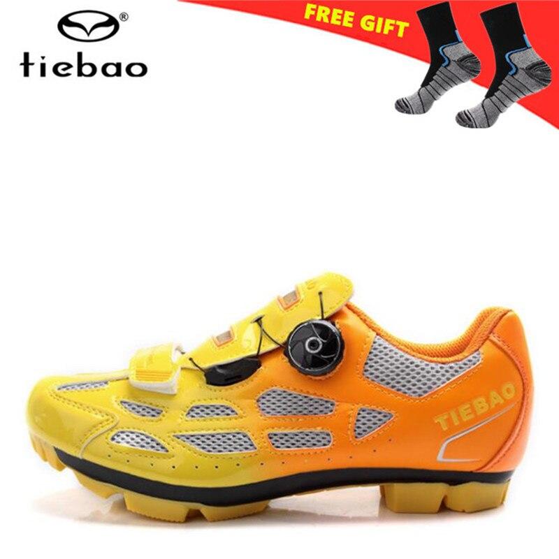 цена на TIEBAO Cycling Shoes men 2018 Mountain Bike Breathable Shoes sapatilha ciclismo MTB Bicycle Shoes Sneakers man zapatos ciclismo