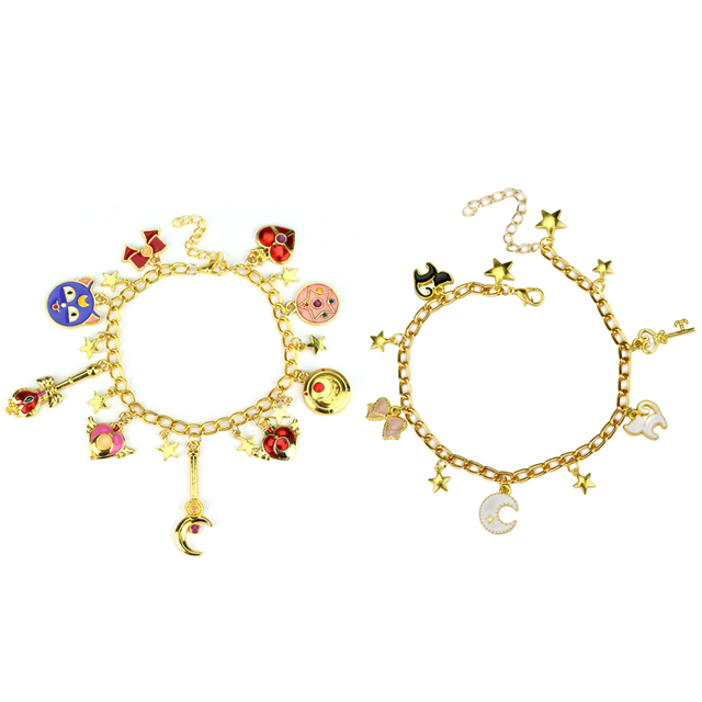 Free Shipping 20 Pc Lot Sailor Moon Shield Star Crystal Bracelet Bangle With Enamel