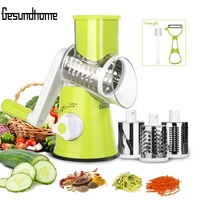 Adjustable Round Spiral Slicer Grater Nuts Fruit Vegetable Chopper Kitchen Tools Cutter Shredder Manual Cutting Slicer New Safe