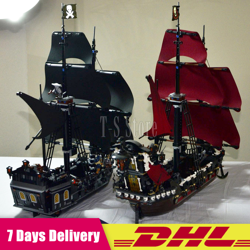 2018 LEPIN 16006 Pirates of the Caribbean The Black Pearl+16009 Queen Anne's revenge Pirate Ship Building Blocks Set 4184 4195 2017 new toy 16009 1151pcs pirates of the caribbean queen anne s reveage model building kit blocks brick toys