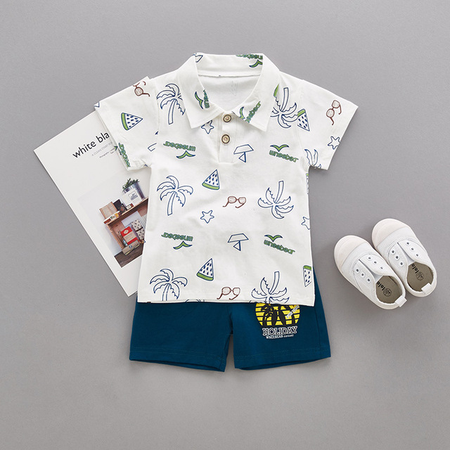 7b4e67248 baby boy clothing suit Summer coconut tree short sleeved T shirt+ ...