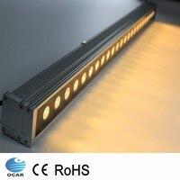 9 W 18 W 0.5 m 1 m LED Wall Washer Paisagem luz AC 24 V AC 85 V-265 V ao ar livre luzes de parede linear lâmpada holofote 100 cm wallwasher