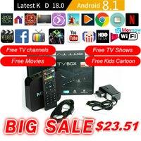 TTVBOX MX Pro 4K Android TV Box Android 8.1 OS Latest KD 18.0 1GB 8GB RK3229 4K 2.4GHz WIFI Quad Core Smart TV Box Media Player