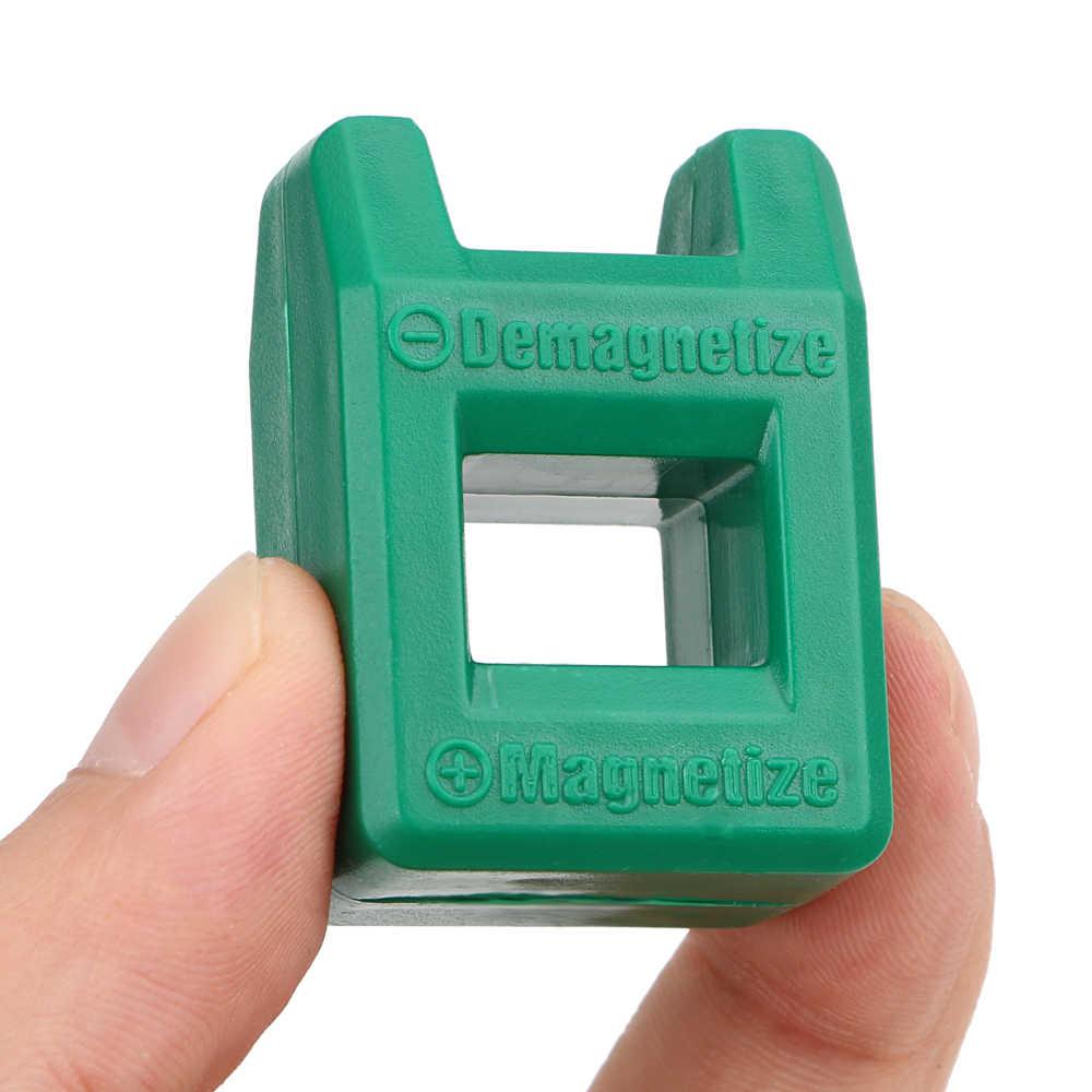 מיני 2 ב 1 מברג כלי פורצלן Demagnetizer Magnetizer Degausser חזק במהירות פורצלן Demagnetization מילוי