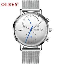 OLEVS Watch Men Luxury Brand Sport Waterproof Scratch-resistant Wristwatch Mens Steel Quartz 5571