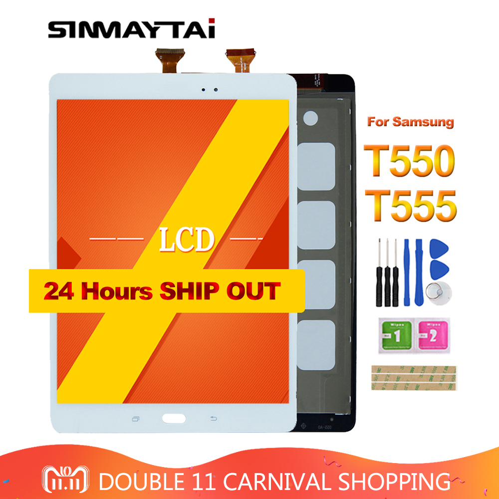 9.7 T550 LCD For Samsung Galaxy Tab A 9.7 SM-T550 SM-T555 T550 T55 LCD Display Matrix Touch Screen Digitizer Full Assembly