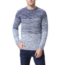 цена на Sweater Men's Gradient Fashion Casual Men's Sweater Youth Round Neck Knit Bottoming Shirt XY963