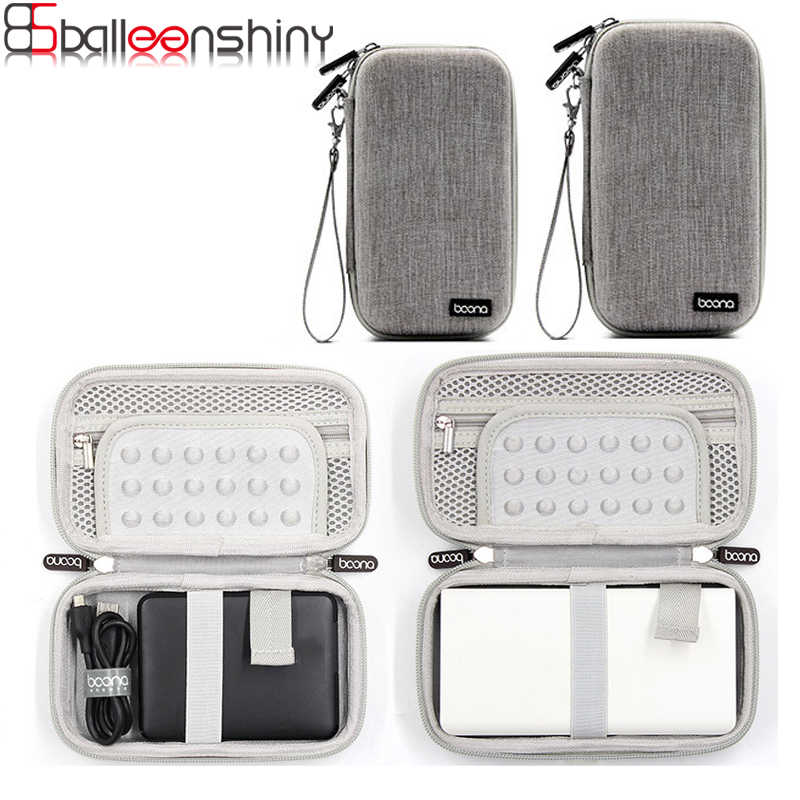 BalleenShiny Mobile Power Hard Disk Charging Treasure Digital Storage Bag 2.5 inch HDD Data Cable Protection Pouch Case